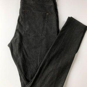 HUE jegging jean in grey/black